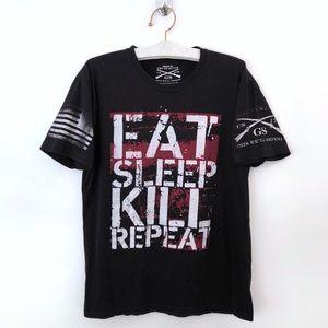 Grunt Style Mens Shirt Black Eat Sleep Kill Repeat